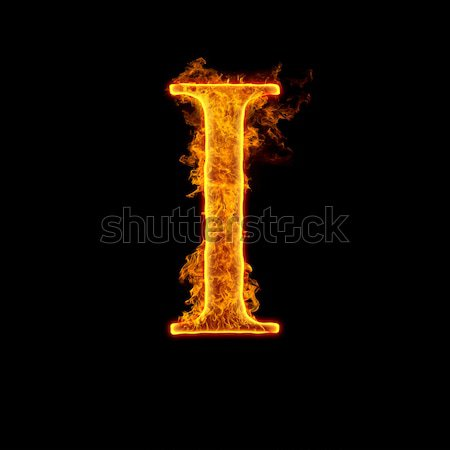 Fire alphabet letter I Stock photo © cookelma