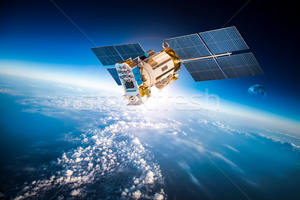 Spazio satellite pianeta terra terra elementi immagine Foto d'archivio © cookelma