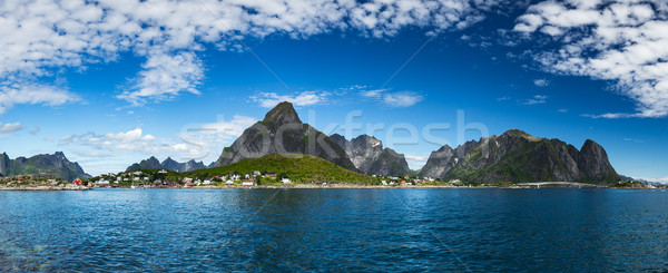 Panorama Lofoten archipelago islands Stock photo © cookelma