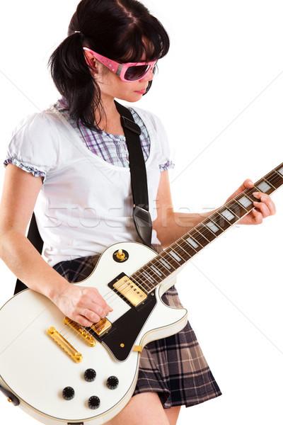 girl with a guitar Stock photo © cookelma