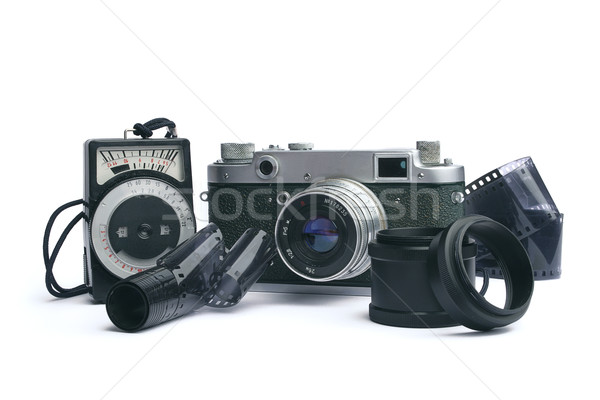 old camera  - 1950-1960 years Stock photo © cookelma
