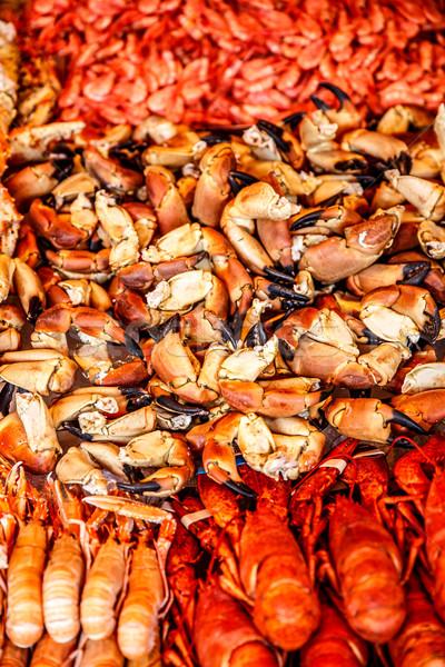 Vis markt zeevruchten Noorwegen Stockfoto © cookelma