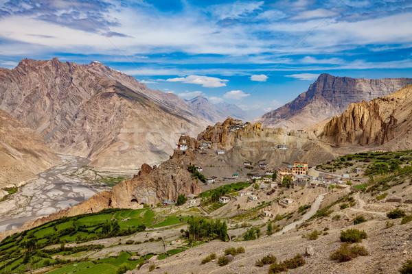 India valle cielo primavera montana verano Foto stock © cookelma