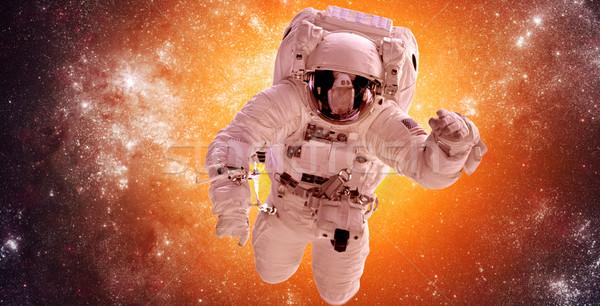 宇宙飛行士 宇宙 背景 星 星雲 要素 ストックフォト © cookelma