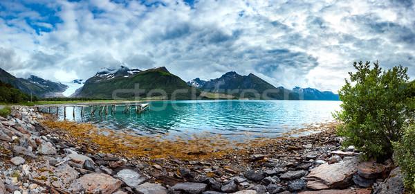 Panorama Glacier on the viewing platform. Svartisen Glacier in N Stock photo © cookelma