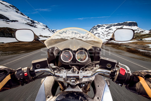 Biker First-person view Stock photo © cookelma