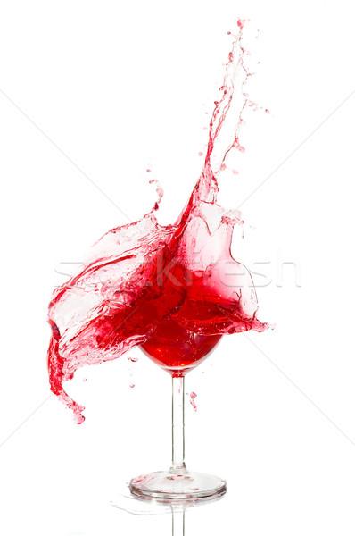 壊れた 割れたガラス ワイン 白 水 プール ストックフォト © cookelma