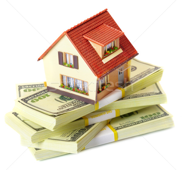 house on packs of banknotes Stock photo © cookelma
