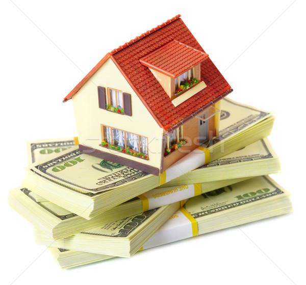 дома деньги домой доллара налоговых Сток-фото © cookelma
