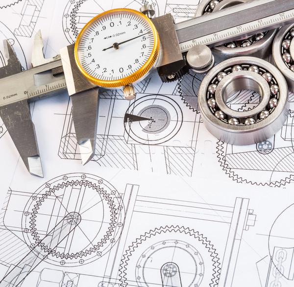 Foto stock: Bola · técnico · desenho · desenhos · negócio · construção