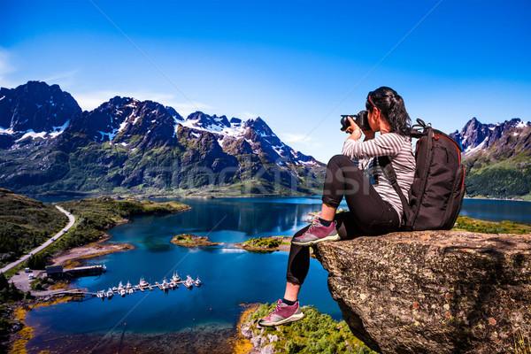 природы фотограф Норвегия архипелаг туристических камеры Сток-фото © cookelma