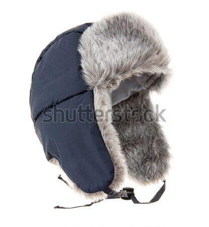 Warm fur cap Stock photo © cookelma
