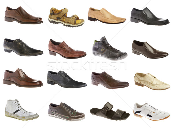 Sixteen man's shoes Stock photo © cookelma