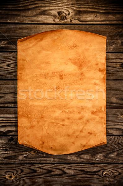 Сток-фото: старой · бумаги · древесины · край · бизнеса