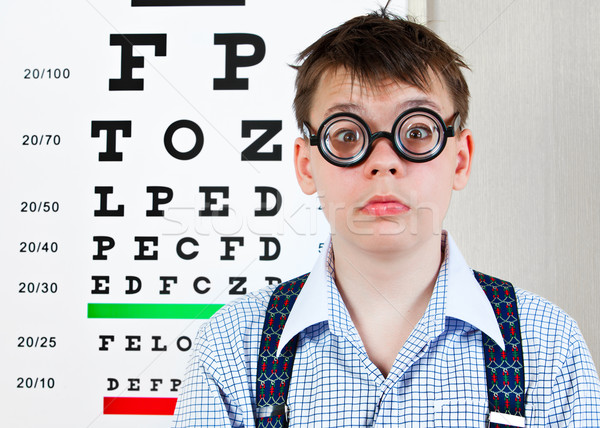 Persona gafas oficina médico ninos Foto stock © cookelma