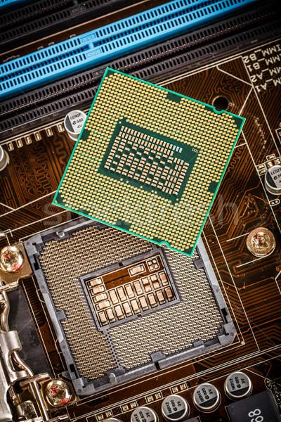 Foto stock: Moderno · processador · placa-mãe · casa · computador · negócio