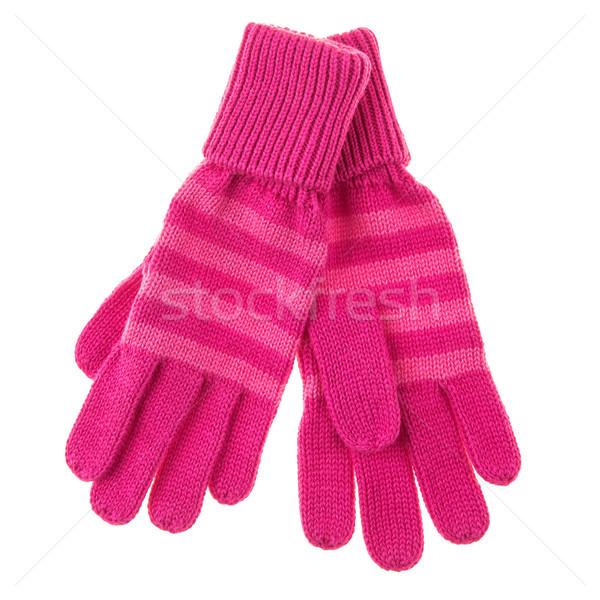 De punto bebé guantes blanco manos Foto stock © cookelma
