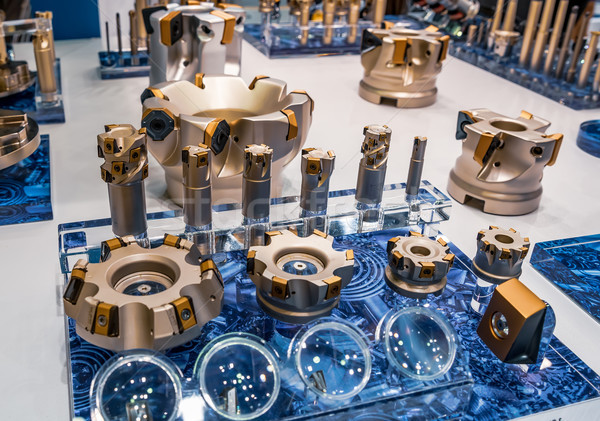Milling cutters are cutting tools typically used in milling mach Stock photo © cookelma
