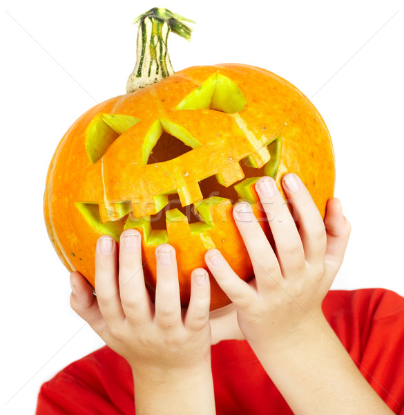 Stockfoto: Jongen · halloween · gelukkig · najaar · persoon · cute