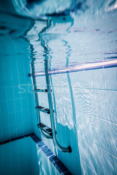 Сток-фото: лестнице · бассейна · воды · расслабиться · Spa · лестницы