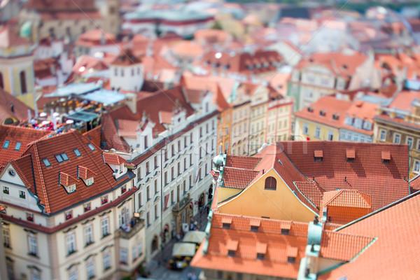 Prag vardiya objektif görmek şehir üzerinde Stok fotoğraf © cookelma
