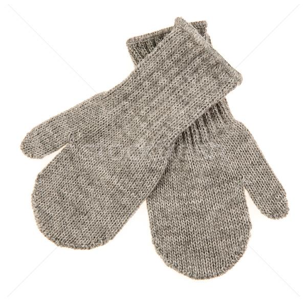 Stock photo: Children's autumn-winter mittens