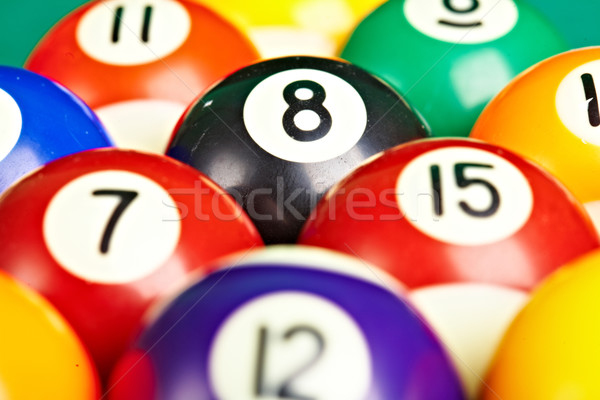 Photo billiard balls close up Stock photo © cookelma