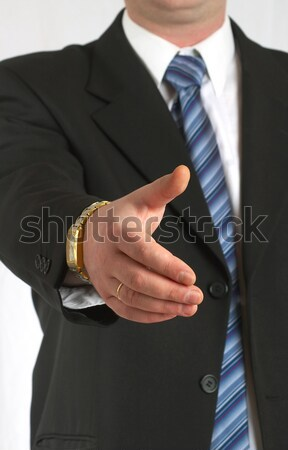 Stock fotó: üzletember · tranzakció · kéz · üzlet · nő · iroda