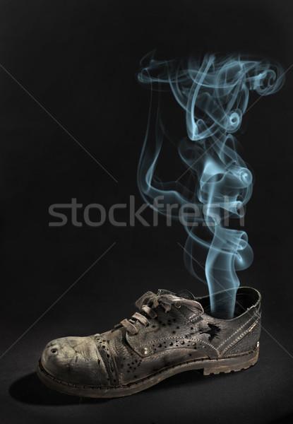 öreg csizma sötét divat munka jókedv Stock fotó © cookelma