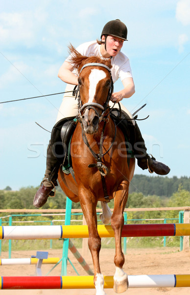 show jumping Stock photo © cookelma