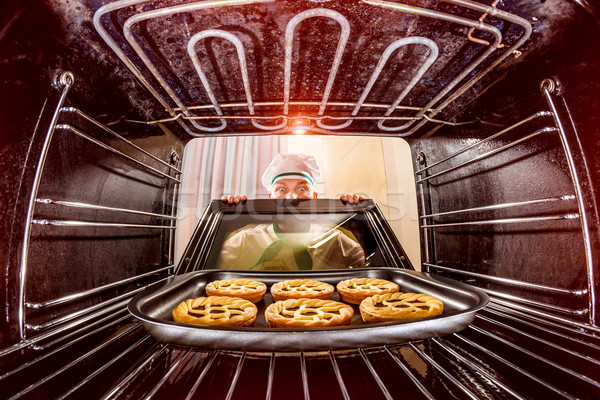 Horno chef vista dentro Foto stock © cookelma