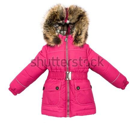 Femmes hiver veste isolé blanche femme Photo stock © cookelma