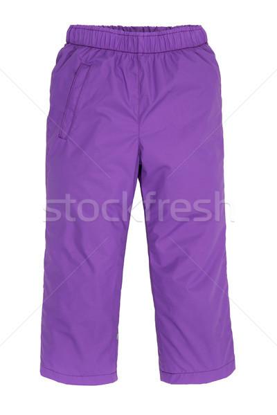 Warm pants geïsoleerd witte mode kind Stockfoto © cookelma
