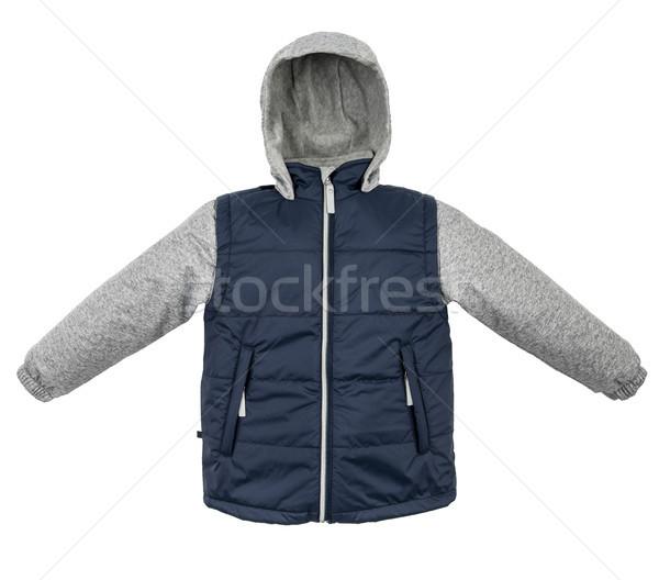 ジャケット 孤立した 冬 白 背景 ストックフォト © cookelma