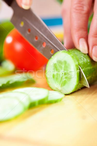 手 野菜 キュウリ 後ろ 新鮮な野菜 ストックフォト © cookelma