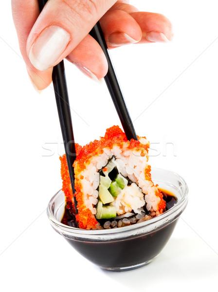 Stock photo: Sushi (California Roll)