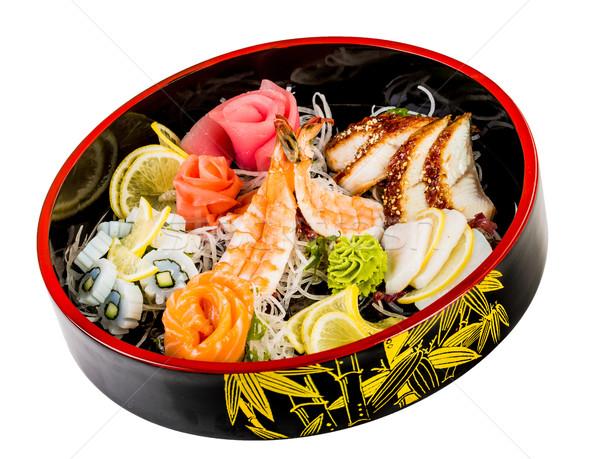 Mar alimentos combinación blanco peces cena Foto stock © cookelma