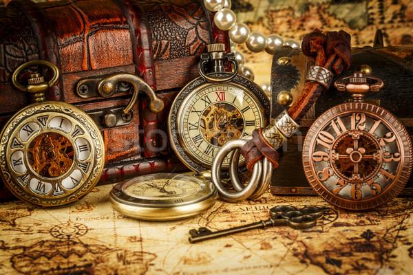 Bağbozumu antika grunge natürmort arka plan Stok fotoğraf © cookelma