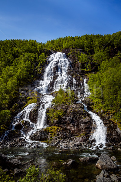 Bratlandsdalen waterfall Stock photo © cookelma