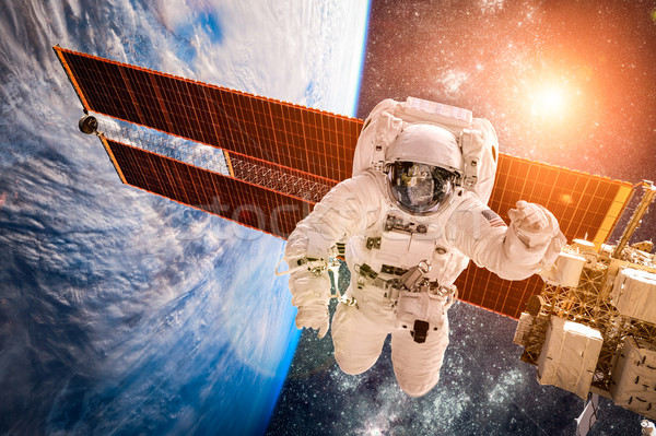 International Space Station and astronaut. Stock photo © cookelma