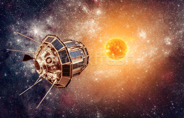 Space satellite on a background star sun Stock photo © cookelma