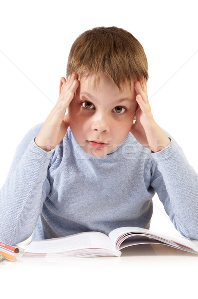 The schoolboy with the book Stock photo © cookelma