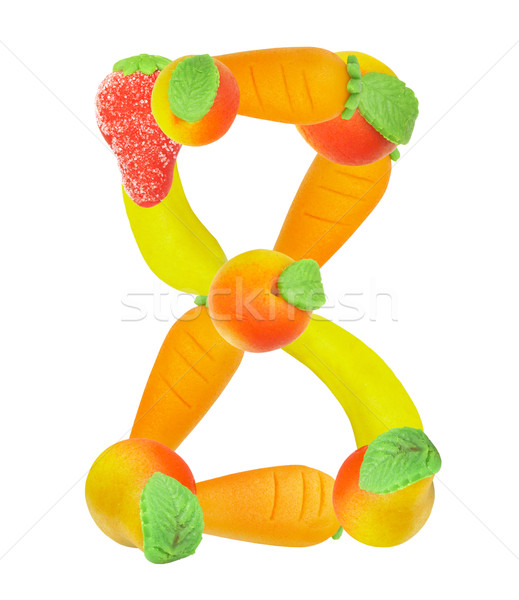 alphabet from fruit, the number 8 Stock photo © cookelma