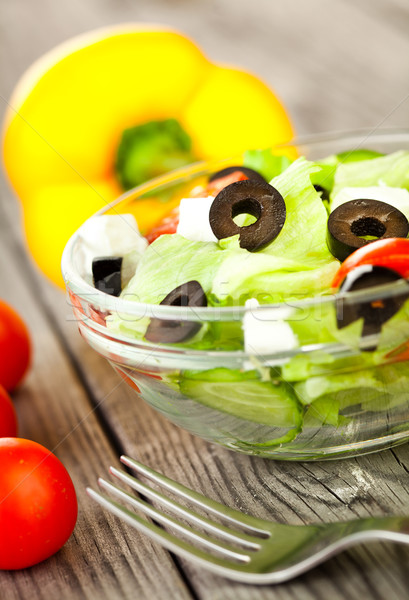 新鮮な サラダ おいしい 精進料理 光 健康 ストックフォト © cookelma