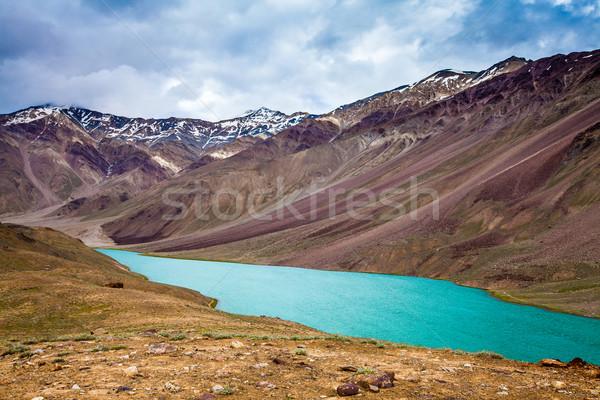 lake Chandra Taal, Spiti Valley Stock photo © cookelma