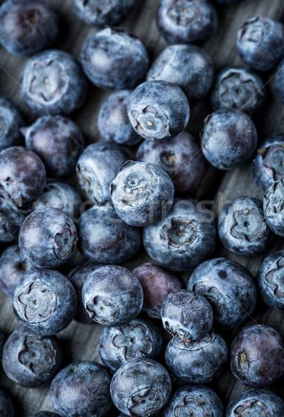Mirtilli fresche frutti di bosco primo piano alimentare frutta Foto d'archivio © cookelma