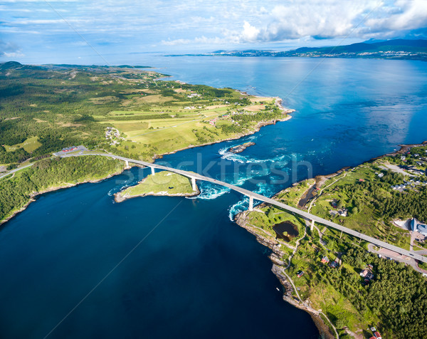 Hermosa naturaleza Noruega naturales paisaje aéreo Foto stock © cookelma