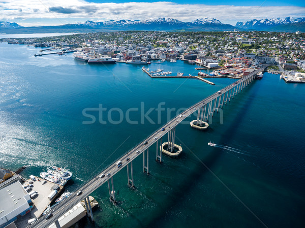 Ponte città Norvegia fotografia mondo Foto d'archivio © cookelma