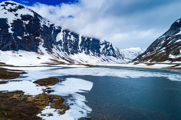 Piękna charakter Norwegia naturalnych krajobraz niebo Zdjęcia stock © cookelma