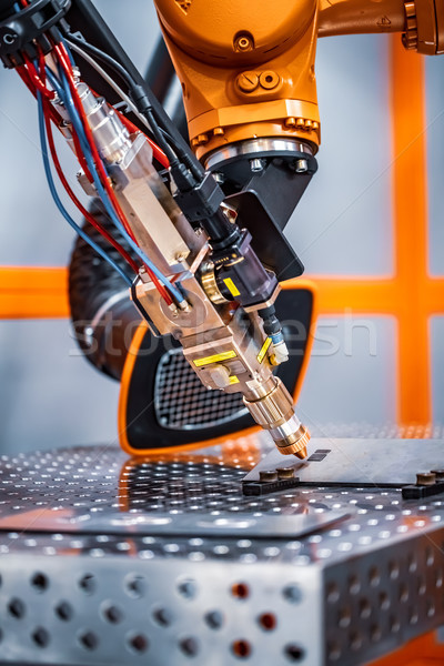 Fibre laser robotic remote cutting system Stock photo © cookelma